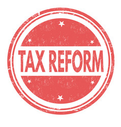 Tax reform grunge rubber stamp vector