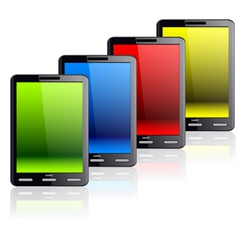 vertical tablet computer vector image vector image