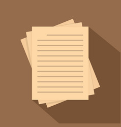 vintage lined papers icon flat style vector image vector image