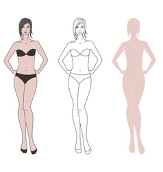 Woman figure vector image