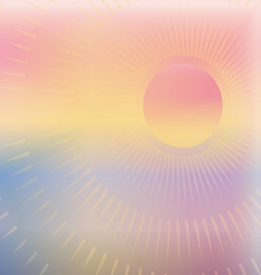 Warm summer sun vector