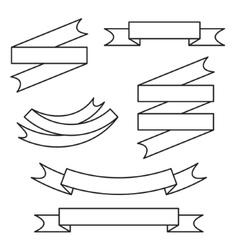Line ribbon set vector