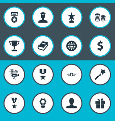 Set of simple awards icons vector