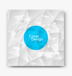 abstract cover design vector image
