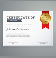 Simple elegant horizontal certificate template vector