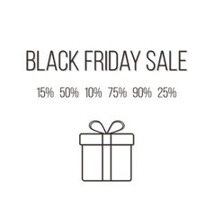 Concept of black friday lettering with different vector