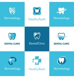 Dental clinic teeth logo vector