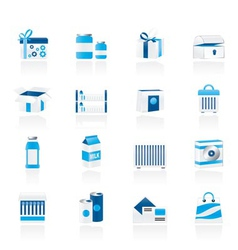 different kind of package icons vector image