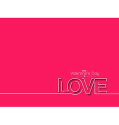Valentines day text design element vector image