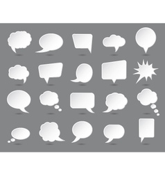 White speech bubbles set with shades vector