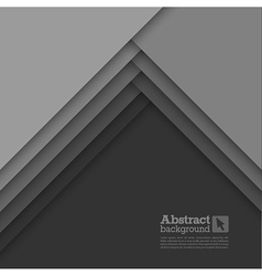 Abstract background with gray layers vector image vector image