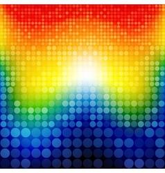 Abstract rainbow circles seamless pattern vector