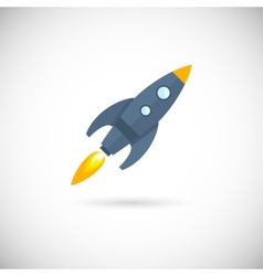Aircraft icons space rocket vector image