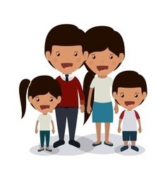 best family design vector image