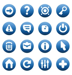 Buttons for interface vector image vector image