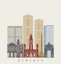 Caracas v2 skyline poster vector