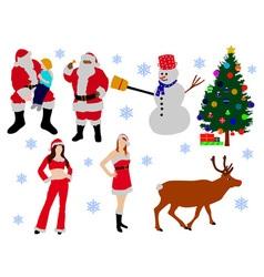 cristmas vs vector image vector image