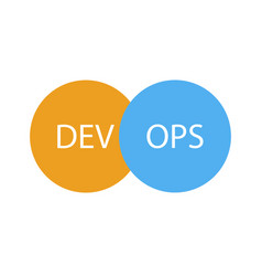 devops logotype sign of circles with arrows blue vector image vector image