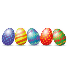 easter eggs with shadow vector image vector image