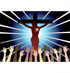 Easter resurrection vector
