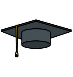 hat graduation isolated icon vector image