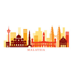 malaysia architecture landmarks skyline shape vector image vector image