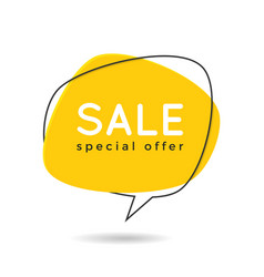 minimal style flat speech bubble shaped banner vector image vector image