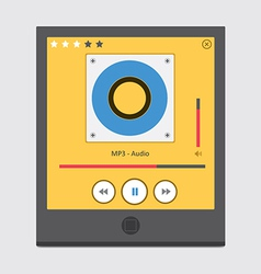 Music player 47 vector image vector image