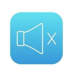 Mute speaker line icon vector image vector image