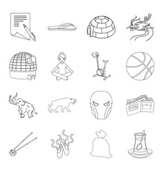 Myth fitness food and other web icon in outline vector