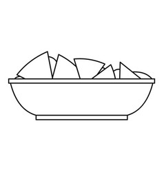 Nachos chips icon outline style vector
