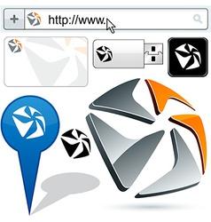 Original pentagonal design element vector