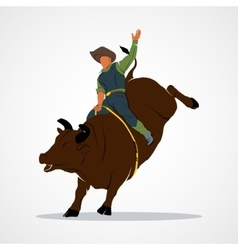 Rodeo bull ride vector