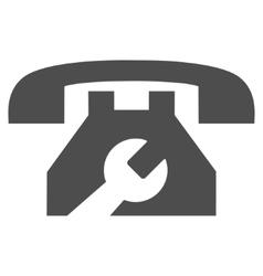 Service phone flat icon vector
