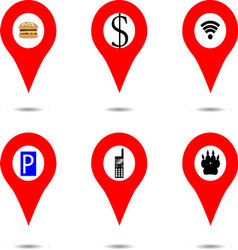 Set of locaction objects vector image vector image