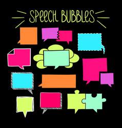 Square speech bubbles-06 vector