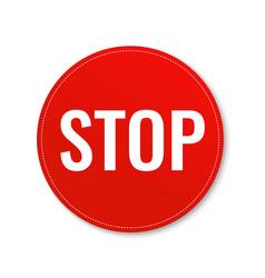 Stop banner vector