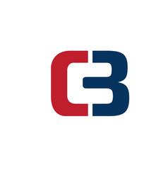 strong elegant letter cb symbol concept vector image