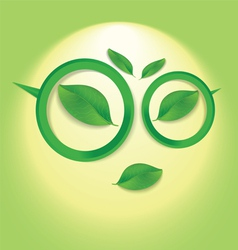 sun face with glasses vector image
