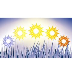 Sun phase vector image vector image