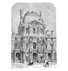 The turgot pavilion part of the louvre palace vector