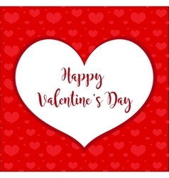 Valentines day frame heart-shaped card vector image