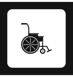 Wheelchair icon simple style vector image vector image