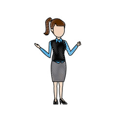Young woman female business office people vector