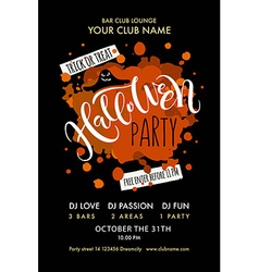 Halloween party lettering typography vector