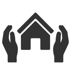 Realty Insurance Hands Flat Icon vector image