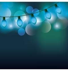 christmas lights background vector image