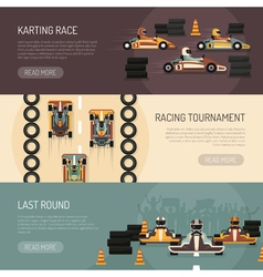 Karting Motor Race Banners vector image