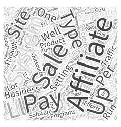 Setting up an affiliate marketing system word vector