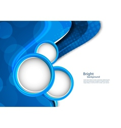 Abstract blue backgroudn with circles vector image
